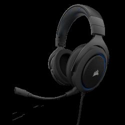 PAŽEISTA PAKUOTĖ! Žaidimų Ausinės Corsair Gaming HS50 Blue (Mėlynos)