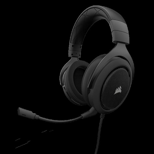 Žaidimų Ausinės Corsair Gaming HS50 Carbon (Juodos)