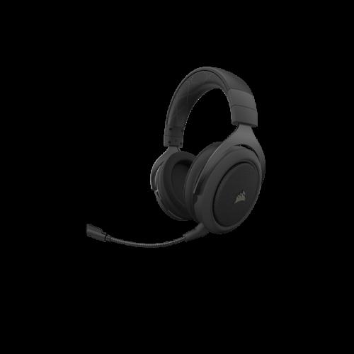 Bevielės Žaidimų Ausinės Corsair Gaming HS70 Pro Carbon (Juodos) 7.1 (Wireless 2.4G)