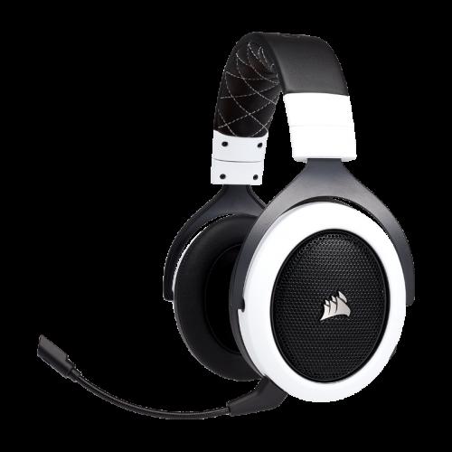 Bevielės Žaidimų Ausinės Corsair Gaming HS70 White (Baltos) 7.1 (Wireless 2.4G)