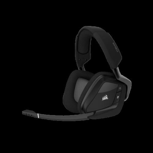 Bevielės Žaidimų Ausinės Corsair Gaming Void Elite RGB Carbon (Juodos) (Wireless 2.4G)
