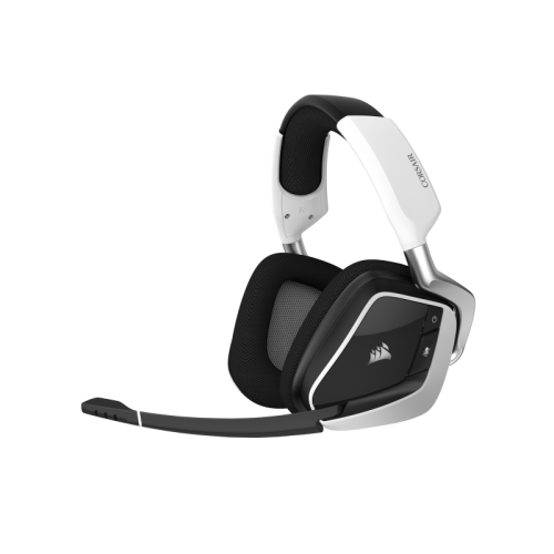 Bevielės Žaidimų Ausinės Corsair Gaming Void Elite RGB White (Baltos) (Wireless 2.4G)