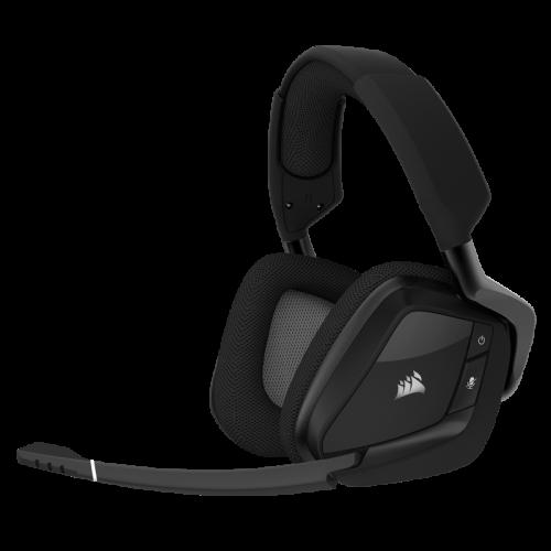 Bevielės Žaidimų Ausinės Corsair Gaming Void Pro Carbon RGB Surround USB Dolby 7.1 (Juodos) (Wireless 2.4G)