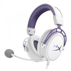 Žaidimų Ausinės HyperX Cloud Alpha Purple/White (Baltai Violetinės)
