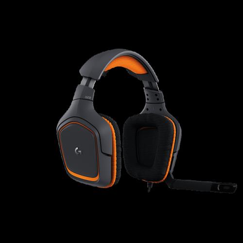 Žaidimų Ausinės Logitech G231 Black-Orange (Juodai Oranžinės)