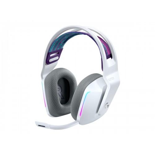 Žaidimų Ausinės Logitech G733 White Wireless (Baltos)