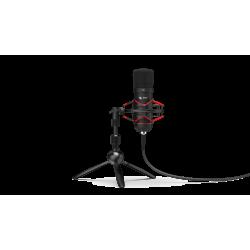 Komplektas: Kondensatorinis Mikrofonas Silentium PC Gear SM900T Black (Juodas) + Pop Filter + Shock-Mount + Tripod Stand