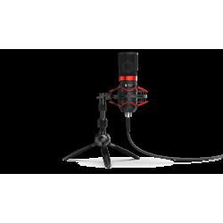 Komplektas: Kondensatorinis Mikrofonas Silentium PC Gear SM950T Black (Juodas) + Pop-Filter + Shock-Mount + Tripod Stand