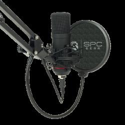 SALE! Komplektas: Kondensatorinis Mikrofonas Silentium PC Gear SM900 Black (Juodas) + Pop-Filter + Shock-Mount + Adjustable Arm