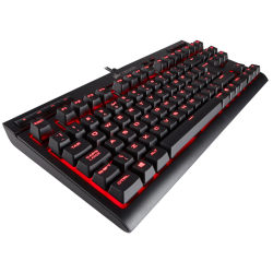 SUPER KAINA! Žaidimų Klaviatūra Corsair Gaming K63 Red LED - EU-UK layout - Cherry MX Red Switches