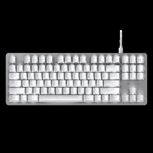 Žaidimų Klaviatūra Razer BlackWidow Lite Mercury White - US layout - Orange Switches