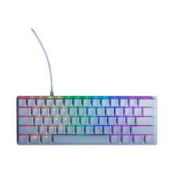 Žaidimų Klaviatūra Razer Huntsman Mini Mercury RGB - US layout - Clicky Purple Opto-Mechanical Switches
