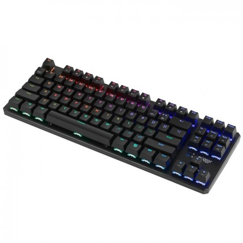 Žaidimų Klaviatūra Silentium PC Gear GK-530 RGB Tournament - US layout - Kailh Blue Switches