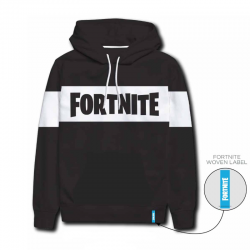 Fortnite Juodas Džemperis Black Hoodie Sweatshirt