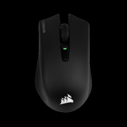 Bevielė-Laidinė Žaidimų Pelė Corsair Gaming Harpoon RGB Black (Wireless 2.4G + Bluetooth 4.2) (Juoda)