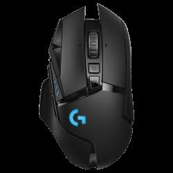 Bevielė-Laidinė Žaidimų Pelė Logitech G502 Hero Lightspeed Wireless Black (Juoda)
