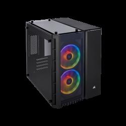 SUPER KAINA! Kompiuterio Korpusas Corsair Crystal Series 280X RGB Mid-Tower Black TG (Juodas)