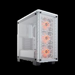 SUPER KAINA! Kompiuterio Korpusas Corsair Crystal Series 460X RGB Mid-Tower White TG (Baltas)