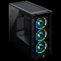 Kompiuterio Korpusas Corsair Crystal Series iCUE 465X RGB Mid-Tower Black TG (Juodas)