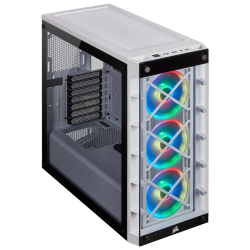 Kompiuterio Korpusas Corsair Crystal Series iCUE 465X RGB Mid-Tower White TG (Baltas)