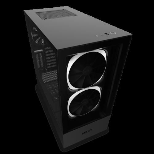 Kompiuterio Korpusas NZXT H Series H510 Elite Mid-Tower Matte Black TG (Juodas)