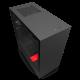 Kompiuterio Korpusas NZXT H Series H510i Mid-Tower Matte Black Red TG (Juodai Raudonas)