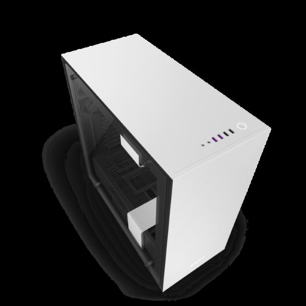 Kompiuterio Korpusas NZXT H Series H700i Mid-Tower Matte White TG (Baltas)