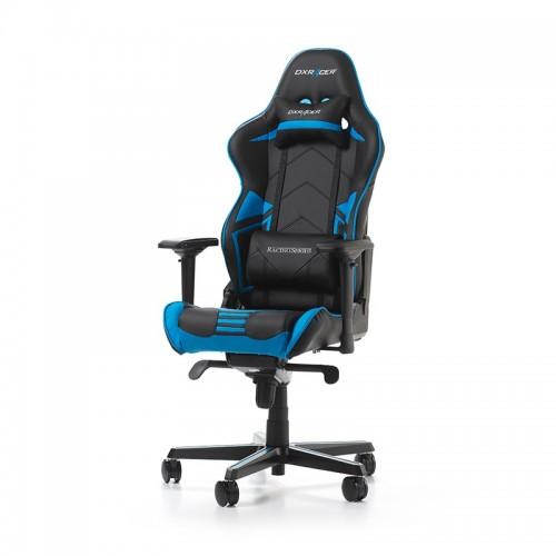 PRISTATYMAS 1-2 D.D.! Žaidimų Kėdė DXRacer Racing Pro Series R131-NB Blue (Mėlyna) + DOVANA Šviečiantis Kilimėlis QPAD FLX-100