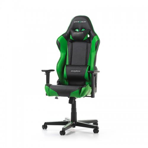 TURIME SANDĖLYJE! Žaidimų Kėdė DXRacer Racing Series R0-NE Green (Žalia)