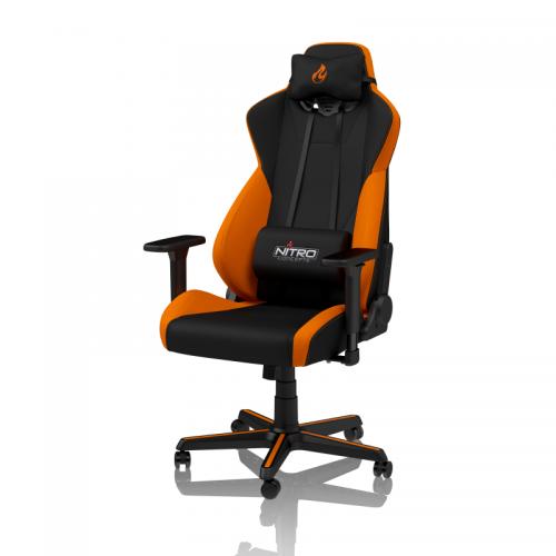 Žaidimų Kėdė Nitro Concepts S300 Horizon Orange Mesh (Juodai Oranžinė Medžiaginė)