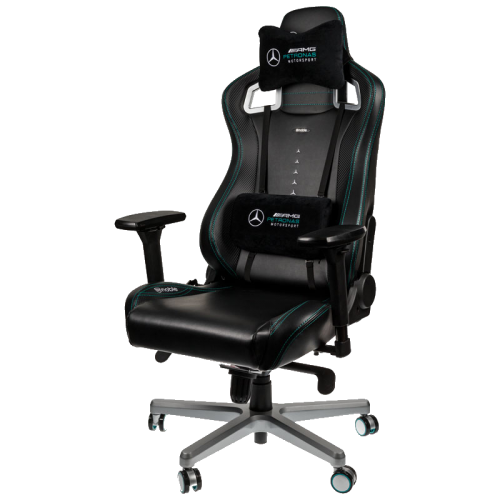 Žaidimų Kėdė noblechairs EPIC MERCEDES-AMG PETRONAS MOTORSPORT EDITION Black-Green PU Leather (Juodai Žalia PU Oda)