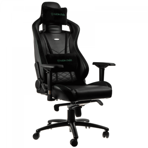 Žaidimų Kėdė noblechairs EPIC Black/Green PU Leather (Juodai Žalia PU Oda)