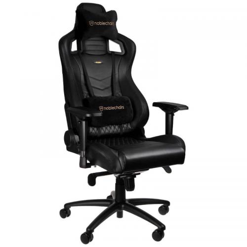 Žaidimų Kėdė noblechairs EPIC Black Nappa Leather (Juoda Nappa Oda - Natūrali Apdirbta Oda)