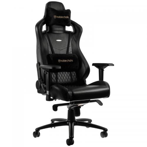 Žaidimų Kėdė noblechairs EPIC Black Real Leather (Juoda Tikra Oda)