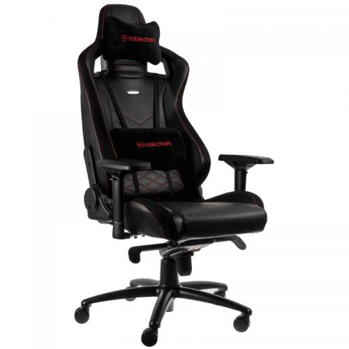 Žaidimų Kėdė noblechairs EPIC Black/Red PU Leather (Juodai Raudona PU Oda)
