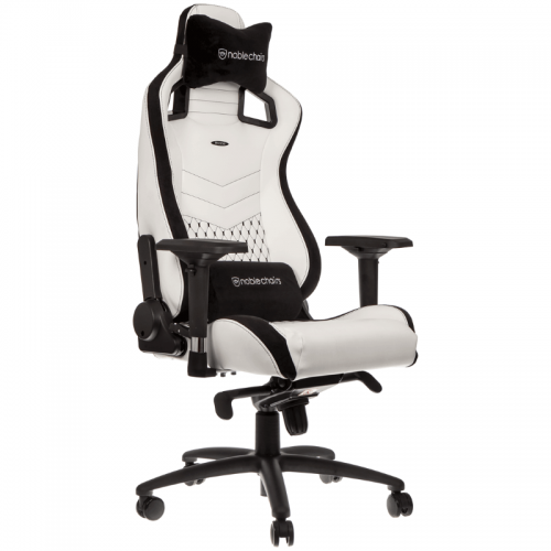 Žaidimų Kėdė noblechairs EPIC White/Black PU Leather (Baltai Juoda PU Oda)